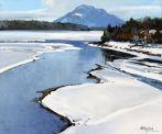 Frozen Loch Laggan