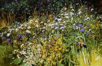 Goldfinch & meadow flowers