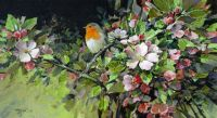 Robin and Apple Blossom